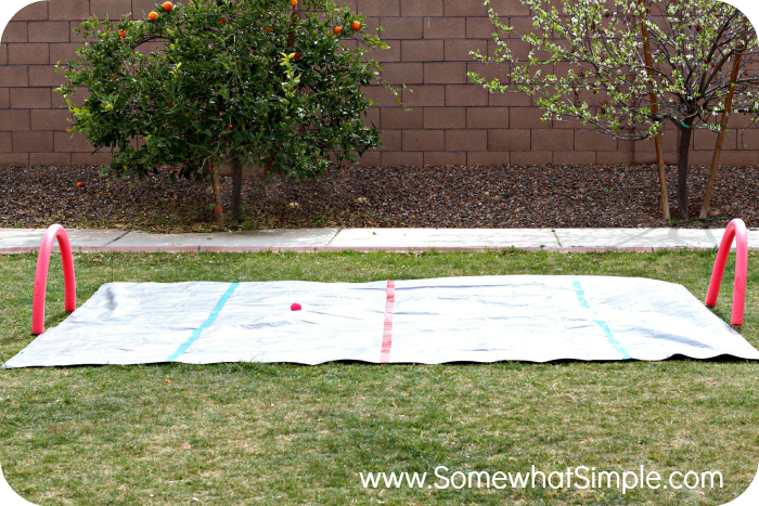 Knee Hockey Water Rink Fun Outdoor Activity By Somewhat Simple Summer Activities For Kids Diy Water Outdoor Fun