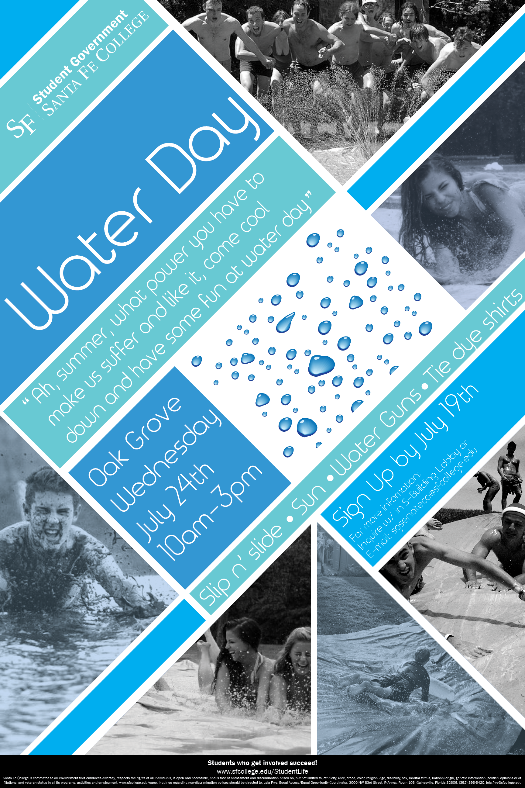 Poster design in indesign - Water Day Event Poster For Sf College Summer 2013 Adobe Indesign Cs6