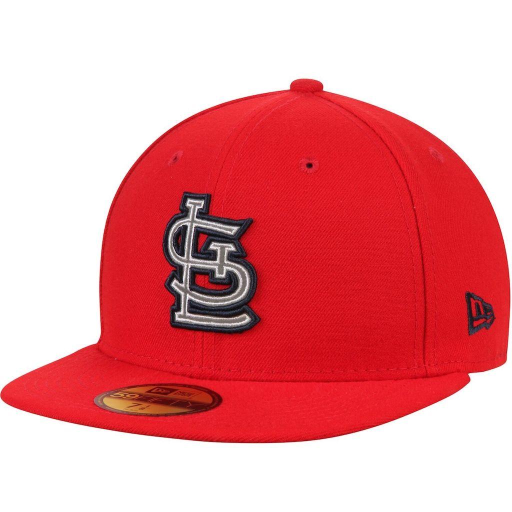 Men S New Era Red St Louis Cardinals Flected Team Fitted Hat Fitted Hats New Era Cardinals