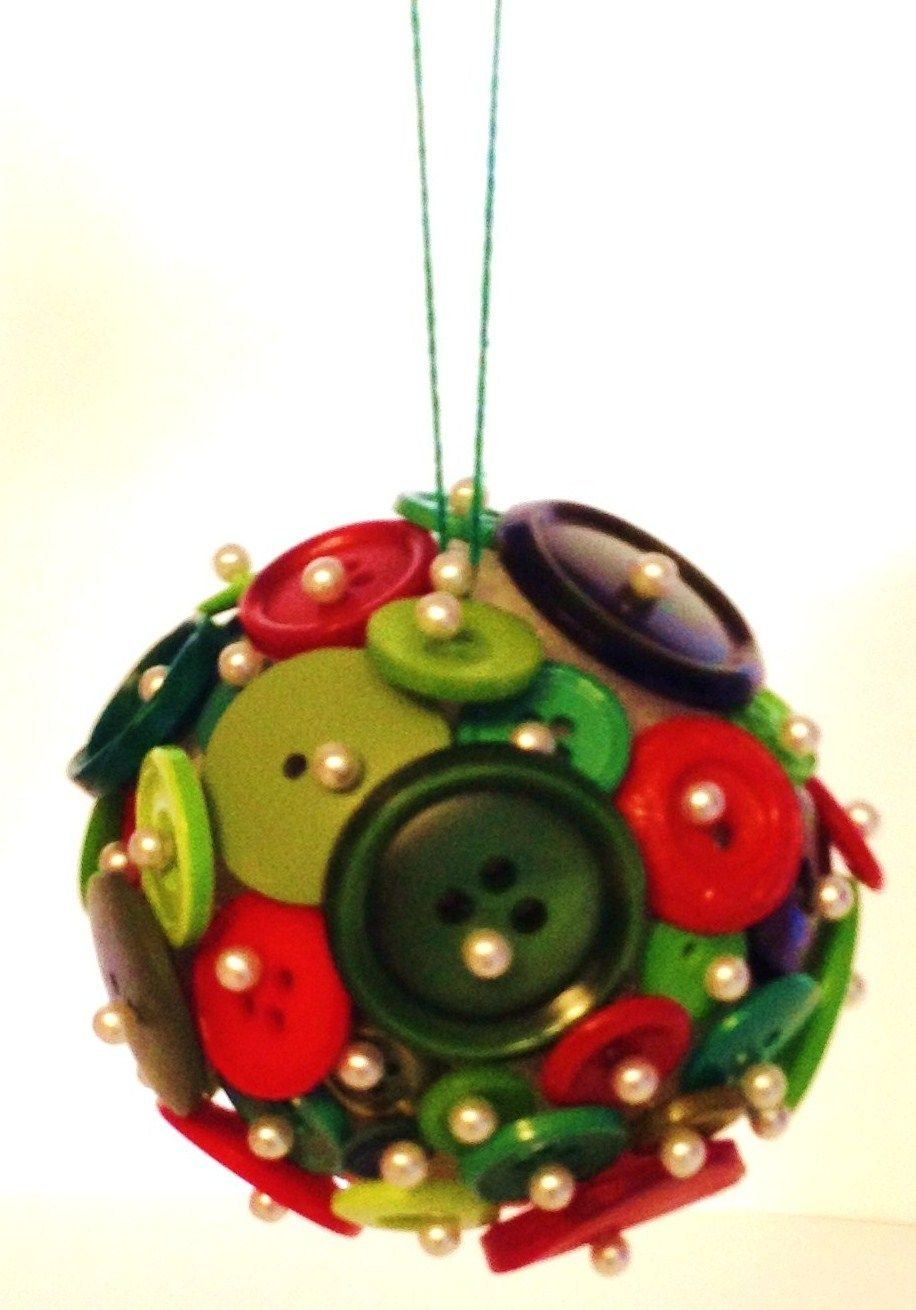 Sewing Notions Ornaments Button ornaments, Diy buttons