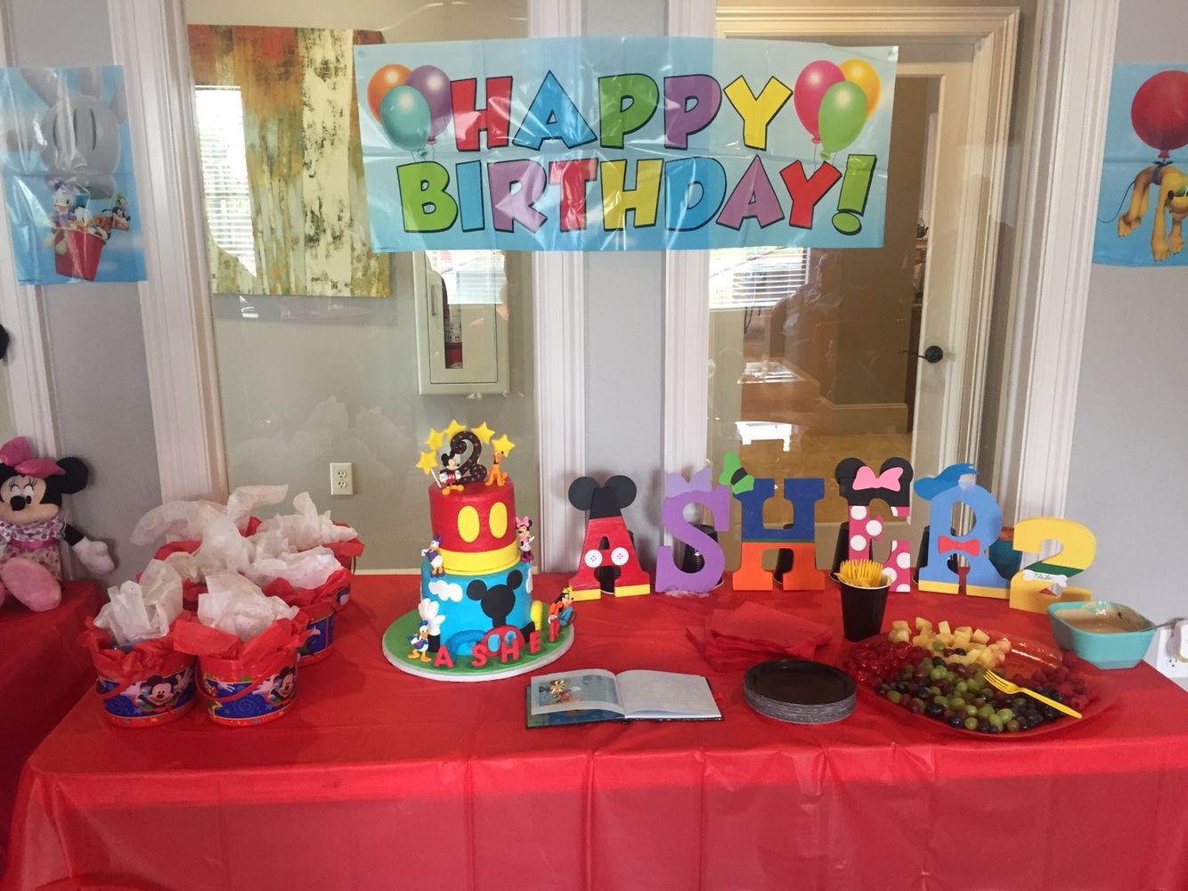 Mickey Mouse Clubhouse Cake Table Setup Everything DIY