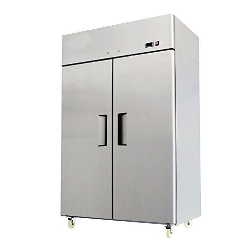 52 Double 2 Door Side By Side Stainless Steel Reach In Commercial Refrigerator 49 Cubi Refrigerator Dimensions Commercial Refrigerators Two Door Refrigerator