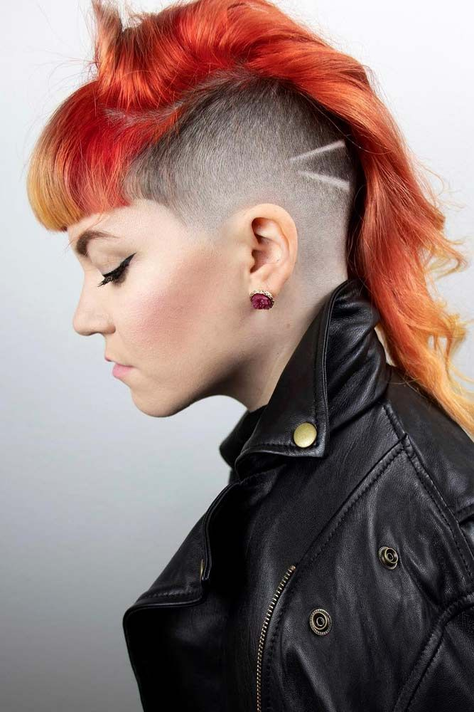 24 Cute & Rebellious Half Shaved Head Hairstyles For ...