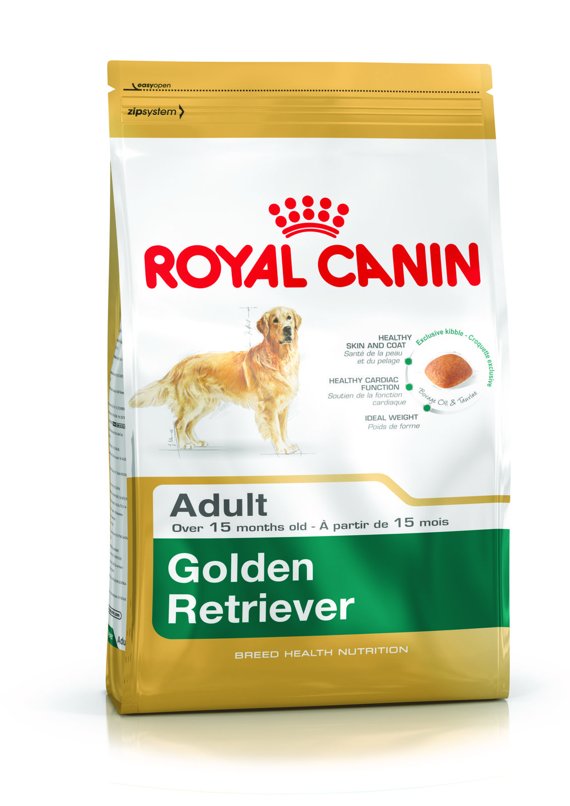 Golden Retriever Adult Helps Support The Skin S Barrier Role Exclusive Complex And Maintain Skin And Coat Health Epa Dha Enriched With Borage Oil