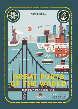 From the ports of New York and St. Petersburg to London and Barcelona, thisfun and informative book offers a unique way of looking at and learning aboutthe busiest ports of the world.    Travel to the world's ports and you'll learn much about a country's people,culture, and industry. Ports are thriving hubs of activity, filled with anendless variety of boats, cargo, and workers. This unique book takes youngreaders on a journey around the globe's ports and features some of the world'smost fascina