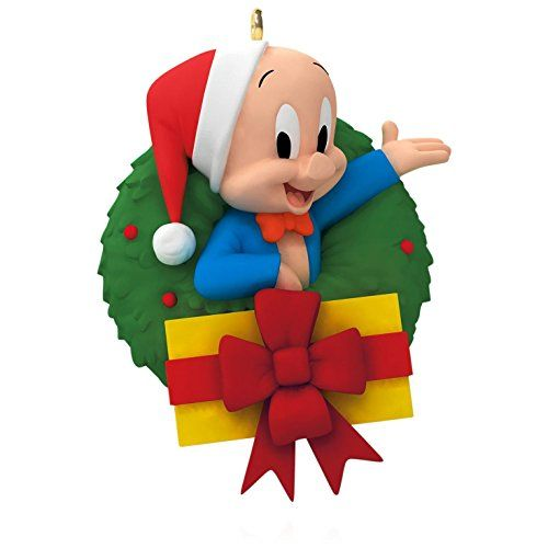 Looney Tunes - Merry Christmas, Folks! Porky Pig Wreath O... https ...