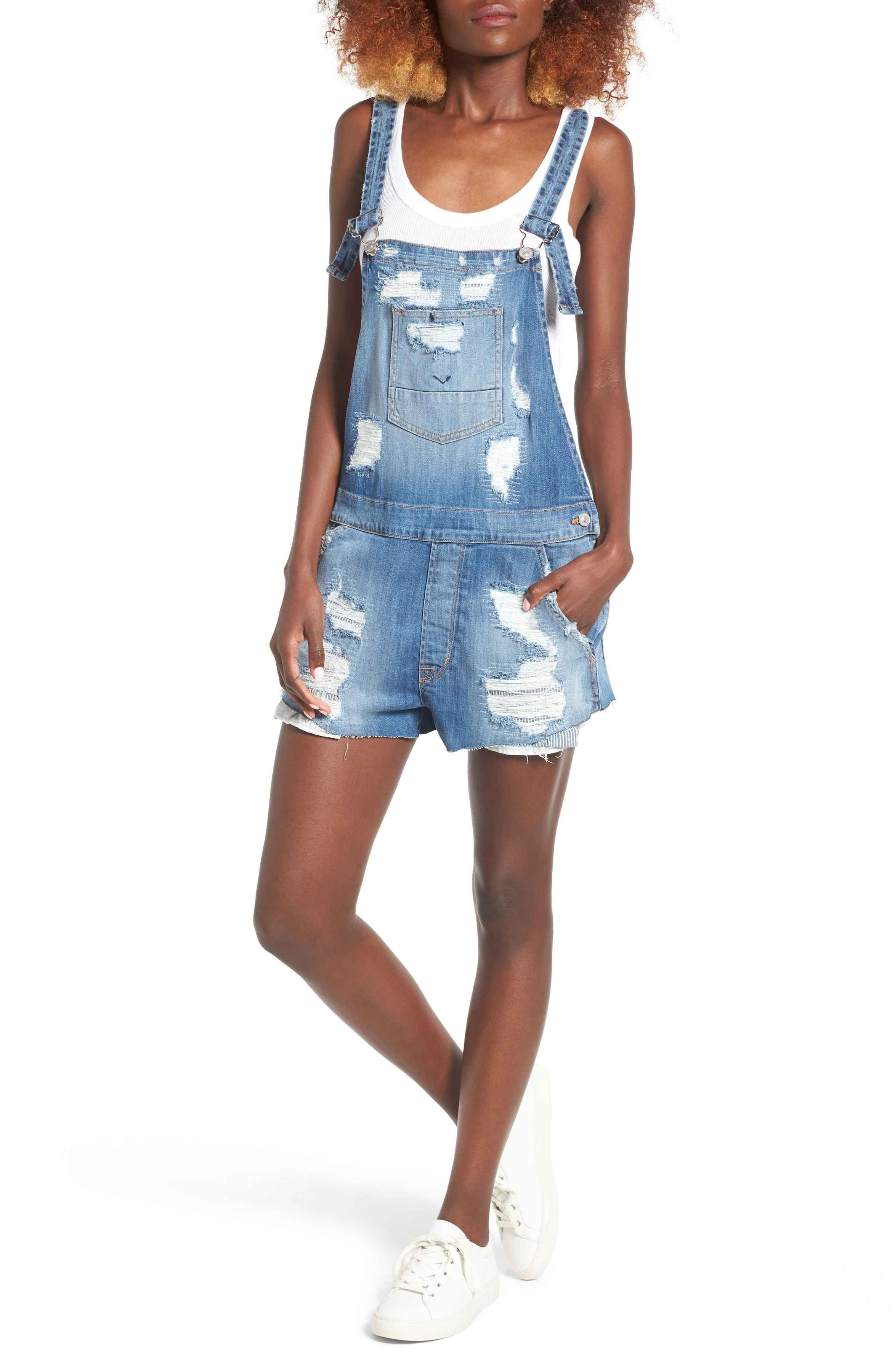 Hudson Jeans Womens Sleeveless Denim Shirt Dress
