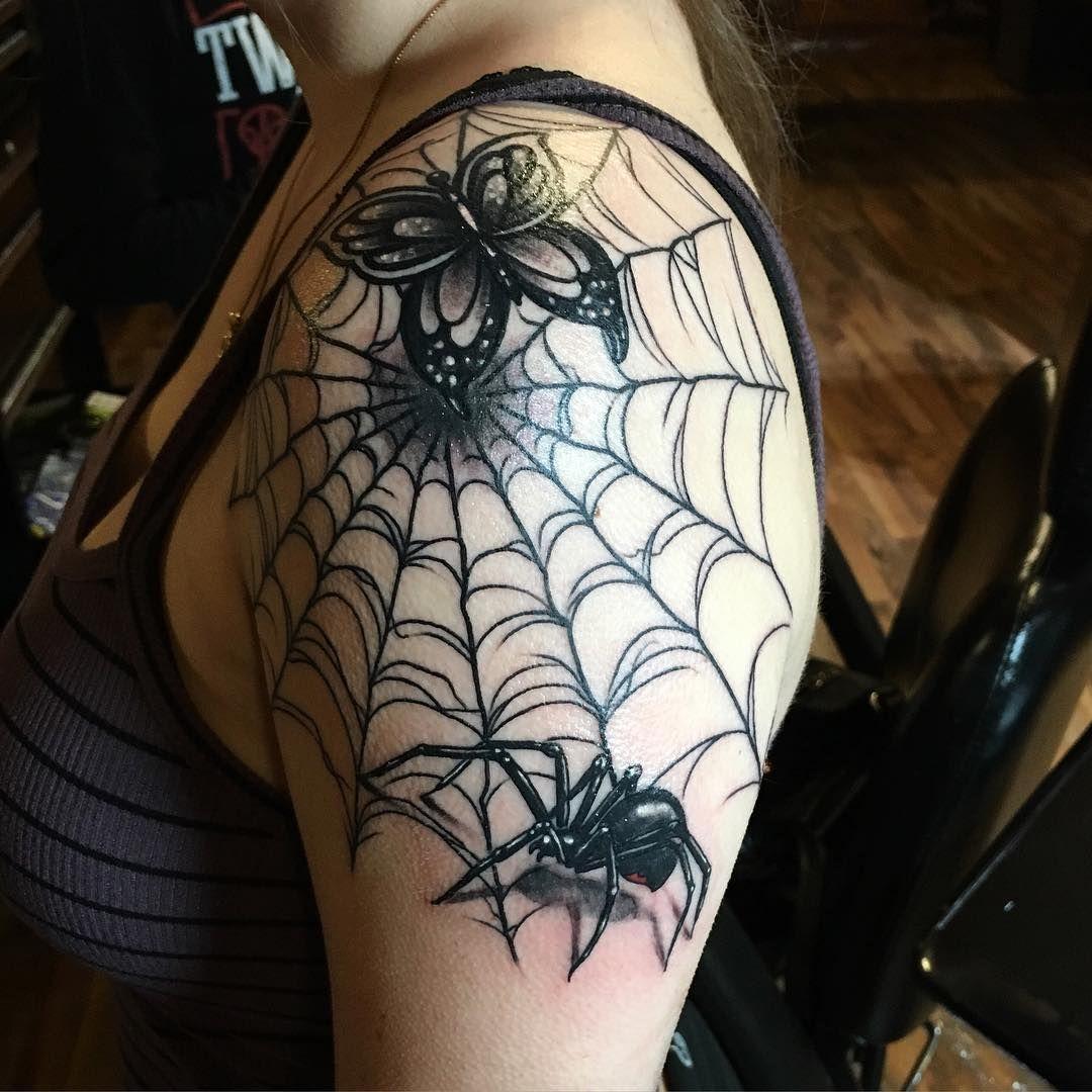 35 Innovative Spider Web Tattoo Ideas-Insightful And