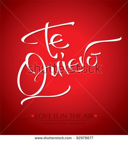 'te quiero' hand lettering - handmade calligraphy; scalable and editable vector illustration (eps8); - stock vector #download #stock #StockImages #microstock #royaltyfree #vectors #calligraphy #HandLettering #lettering #design #letterstock #silhouette #decor #printable #printables #craft #diy #card #cards #label #tag #sign #vintage #typography