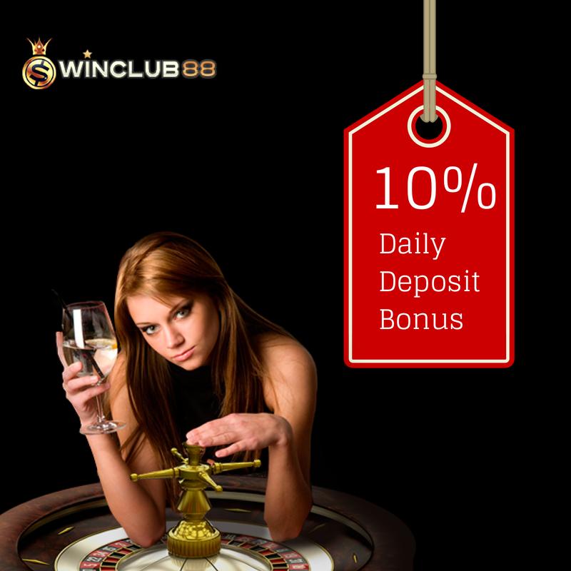 10% Daily Deposit Bonus at #winclub88