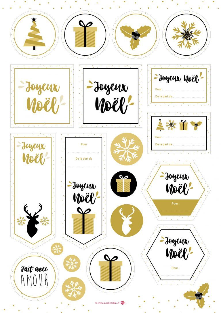 Freebies A Imprimer Etiquettes Noel Gold Une Creation