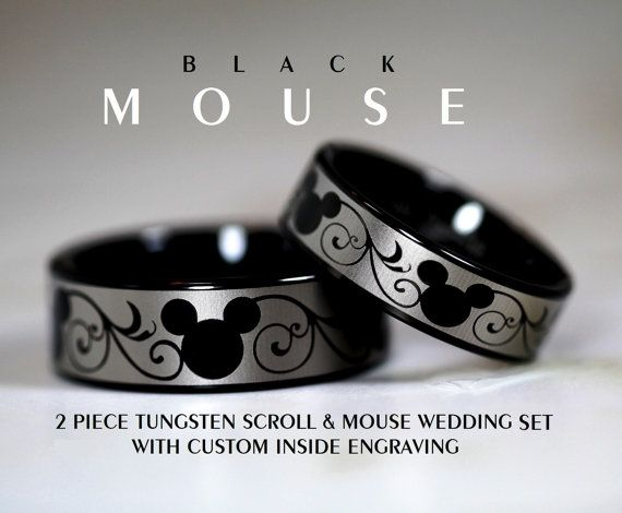 disney finds matching mickey wedding bands - Disney Wedding Rings