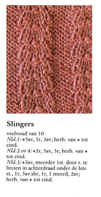 Slingers 001 Breisteken Verschillende Haaksteken Pinterest