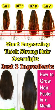 Start Regrowing Thick, Strong Hair Overnight With Just 3 Ingredients -   17 hair Natural look ideas