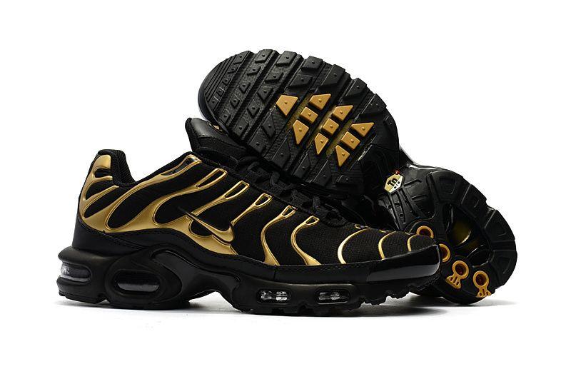 nike air max plus tn ultra black and gold