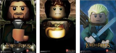 Lego Lord of the Rings poster set