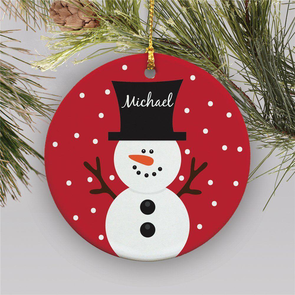 Snowman Personalized Christmas Ornament Kids Christmas Ornaments Personalized Christmas Ornaments Christmas Ornaments