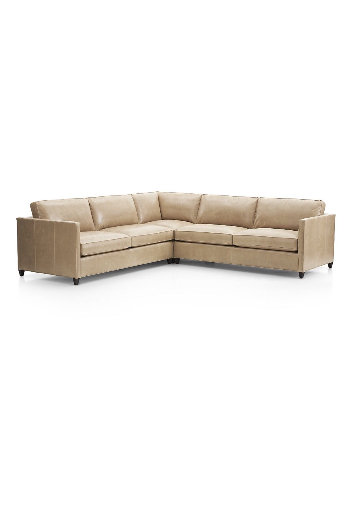 Dryden leather sofa in mushroom