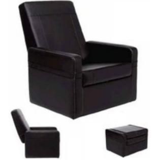 Check Out Convertible Ottoman Chair With Storage Convertible 3 In 1 Ottoman Chair Black Leather Finish Clu Storage Chair Chair And Ottoman Living Room Seating