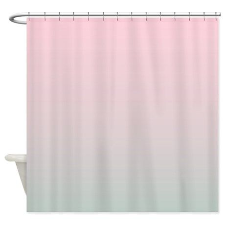 Grey Pink Ombre Shower Curtain On CafePress