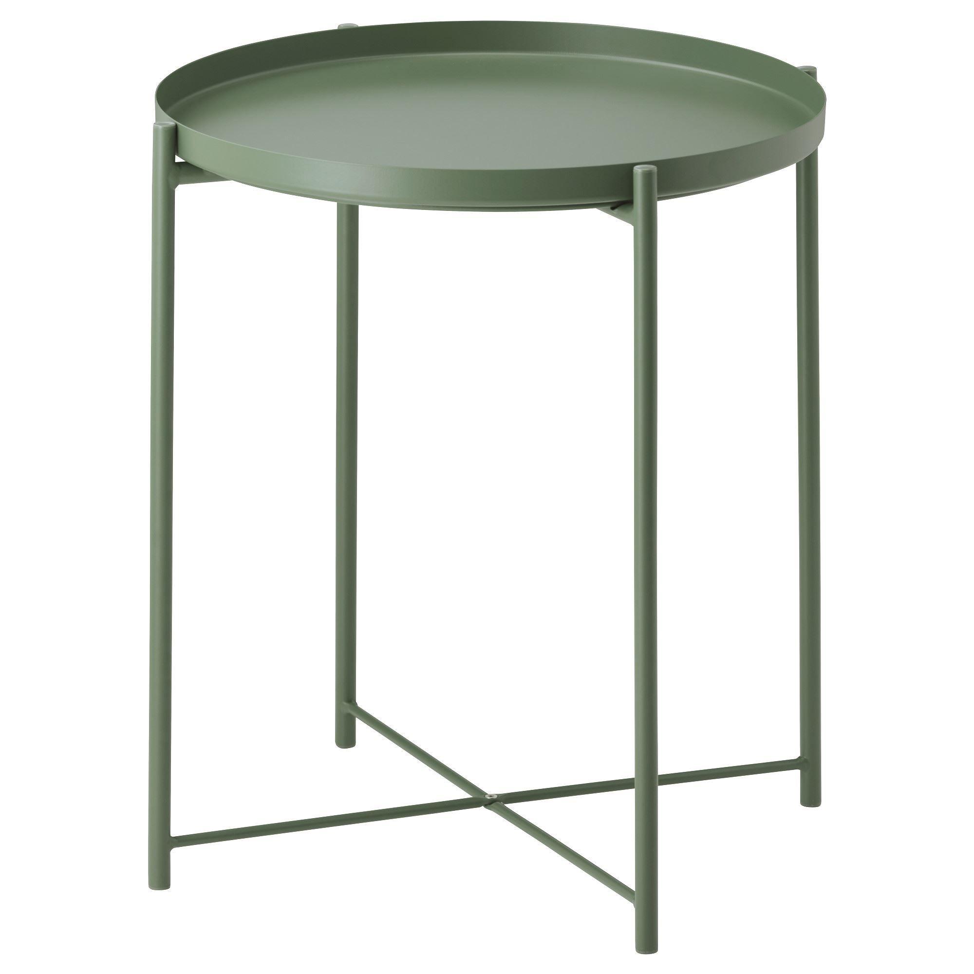 Gladom Tepsili Sehpa Koyu Yesil 45x53 Cm Ikea Oturma Odalari Ikea Oturma Odalari Furniture