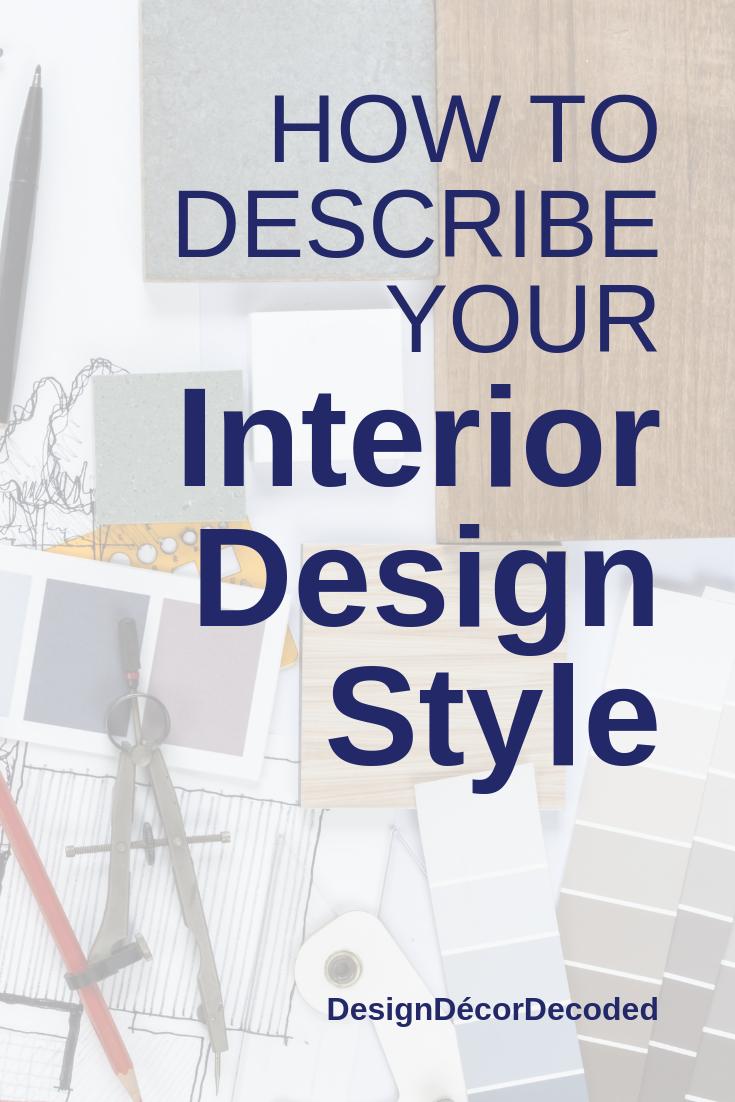 words to describe interior design