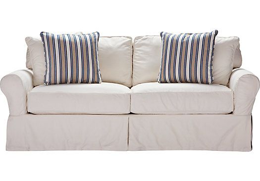Shop For A Cindy Crawford Home Beachside White Denim Sofa At Rooms