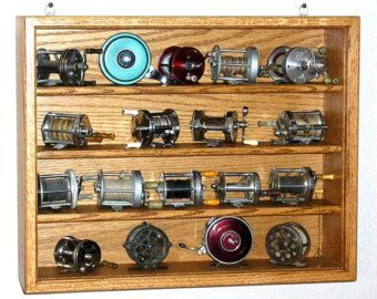 Fishing Lure Display Case By Oakcollection On Etsy Vintage Reel