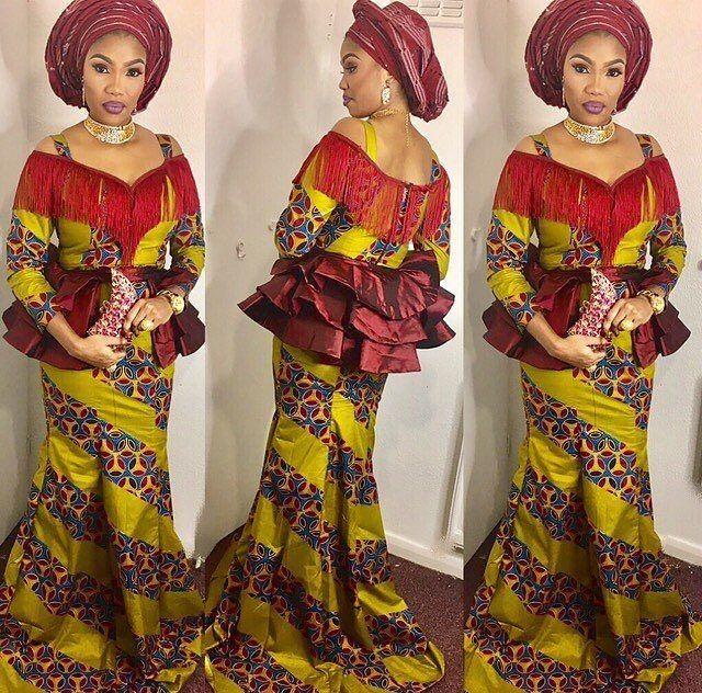 eb05834c39b08b Skirt And Blouse Ankara Styles For The Ladies : Styles I - DeZango Fashion  Zone. Checkout This Creative Aso Ebi ...
