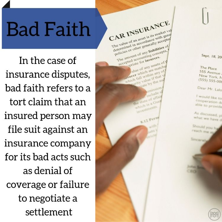 Insurance bad faith words faith insurance