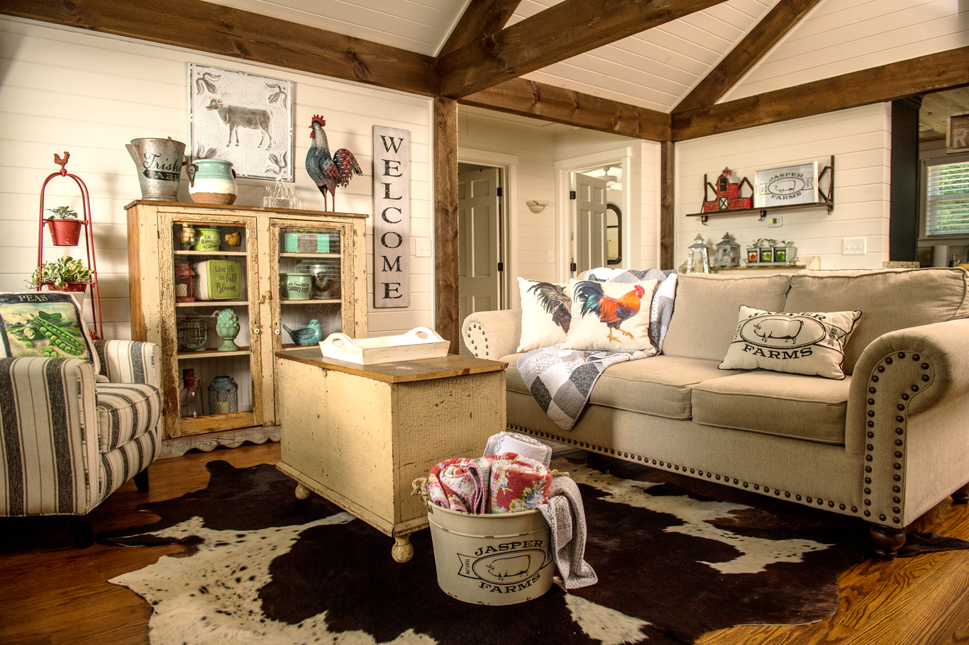 Eclectic farmhouse style featuring red shed from tsc trisha