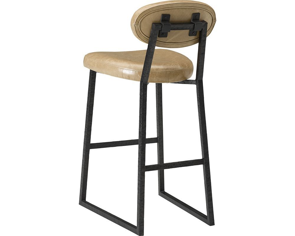 Ed Ellen Degeneres Alhambra Metal And Leather Bar Stool Thomasville Furniture