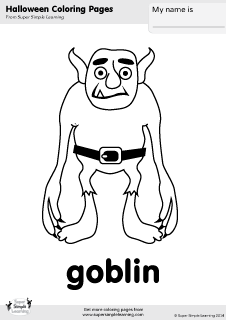 dora coloring pages halloween goblin - photo#6