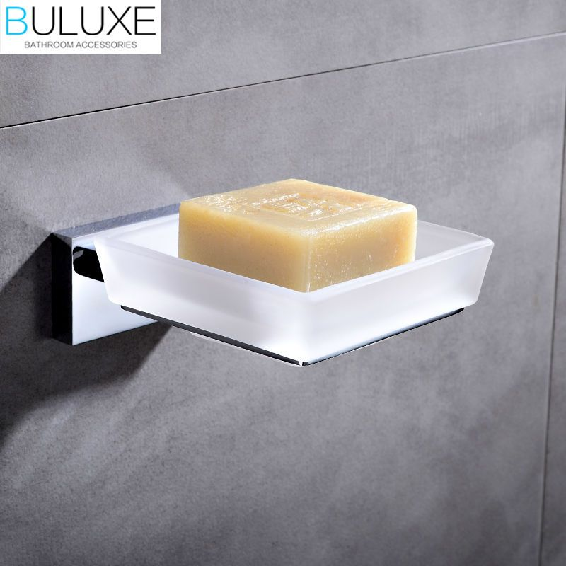 Buluxe Brass Bathroom Accessories Wall Mounted Soap Dish Holder Bath