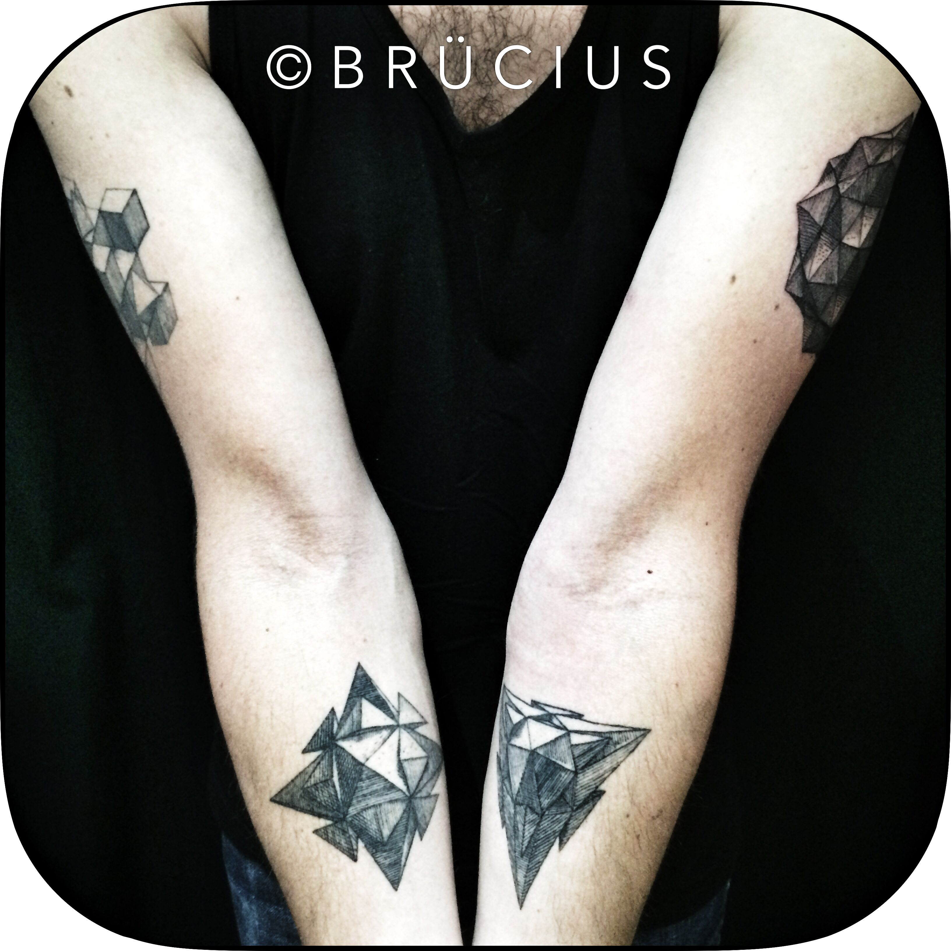 Brucius Tattoo Sf Brucius Engraving Lines Woodcut Etching Geometry Solids Wenzel Jamnitz Blue Tattoo Tattoos San Francisco Tattoo Artists