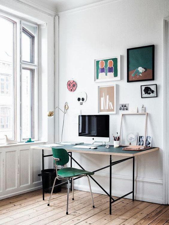 21 formas de integrar una zona de trabajo en la estancia for Integrar escritorio en salon