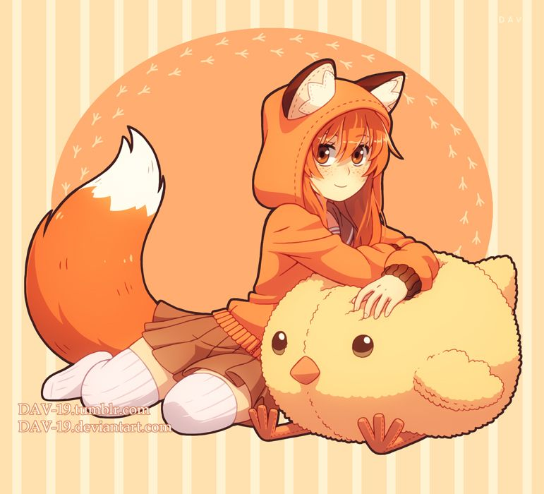 Dav 19 Photo Anime Fox Boy Fox Girl Kawaii Anime