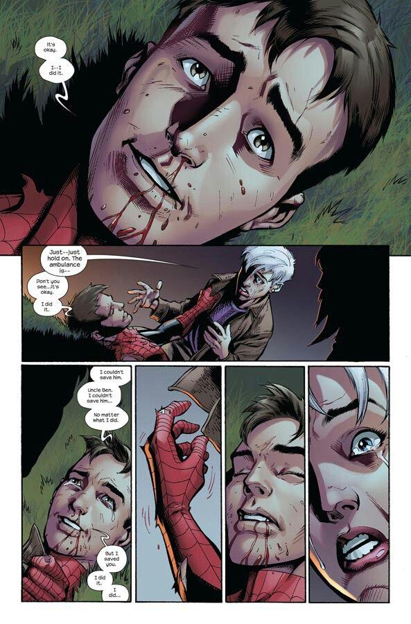 Seriously Tears In My Eyes Yo Spiderman Comic Ultimate Spiderman Spiderman