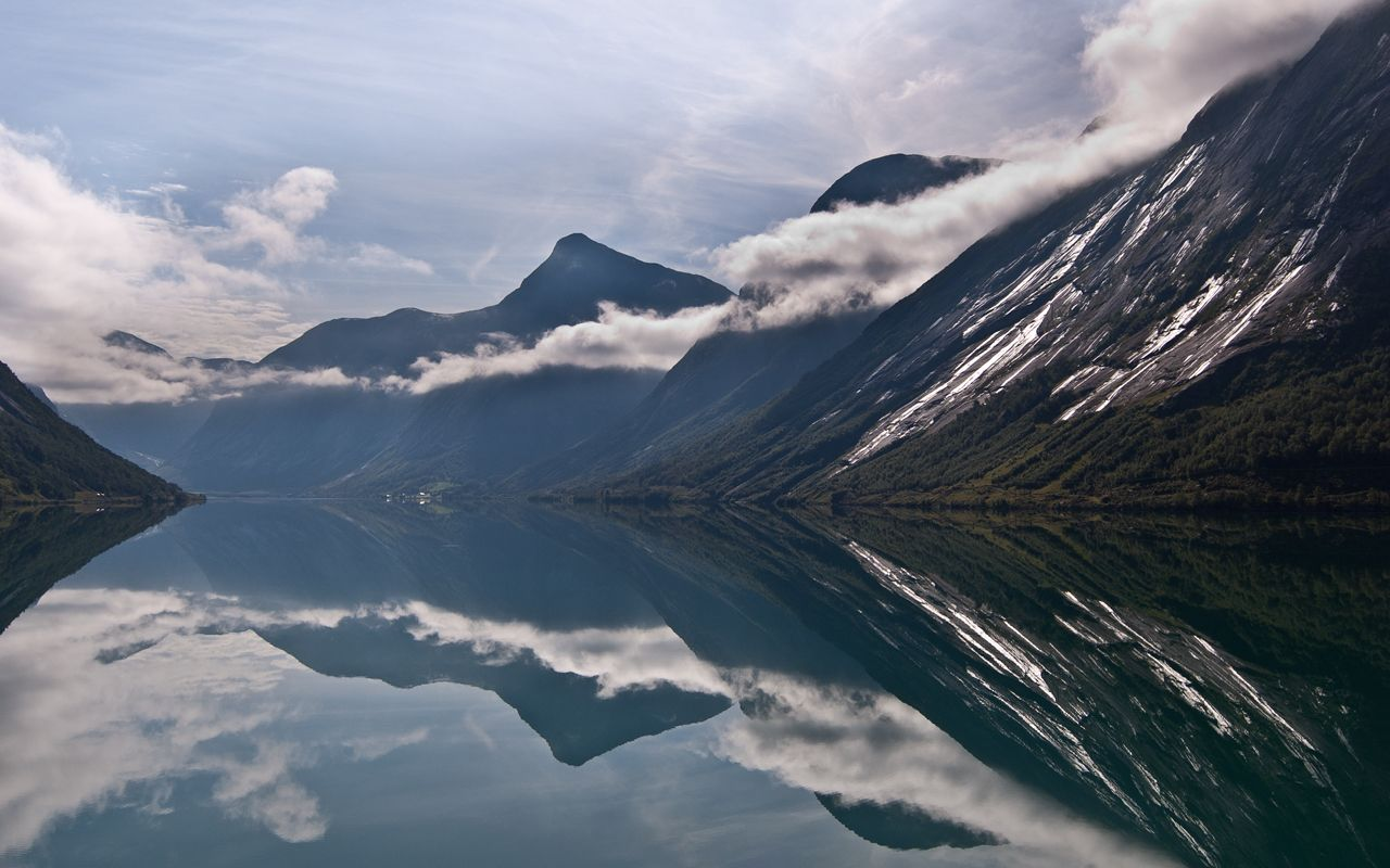 """""""Northern Serenity"""" -- #wallpaper by """"NLWerner"""" from interfacelift.com -- Taken two years ago in Norway, somewhere in the vicinity of Geiranger."""