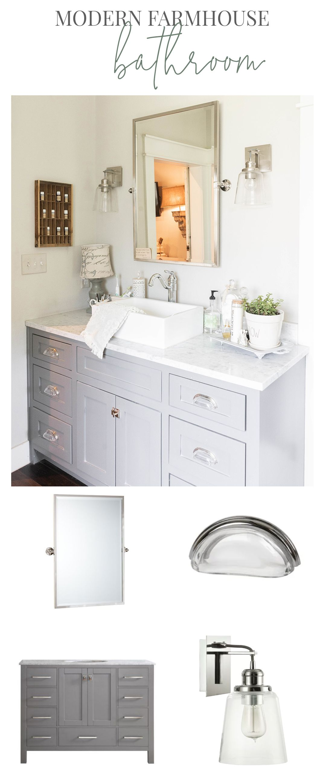 Farmhouse Home Tour With Michele Of Vintage Home Modern Farmhouse Bathroom Small Bathroom Furniture Farmhouse Bathroom