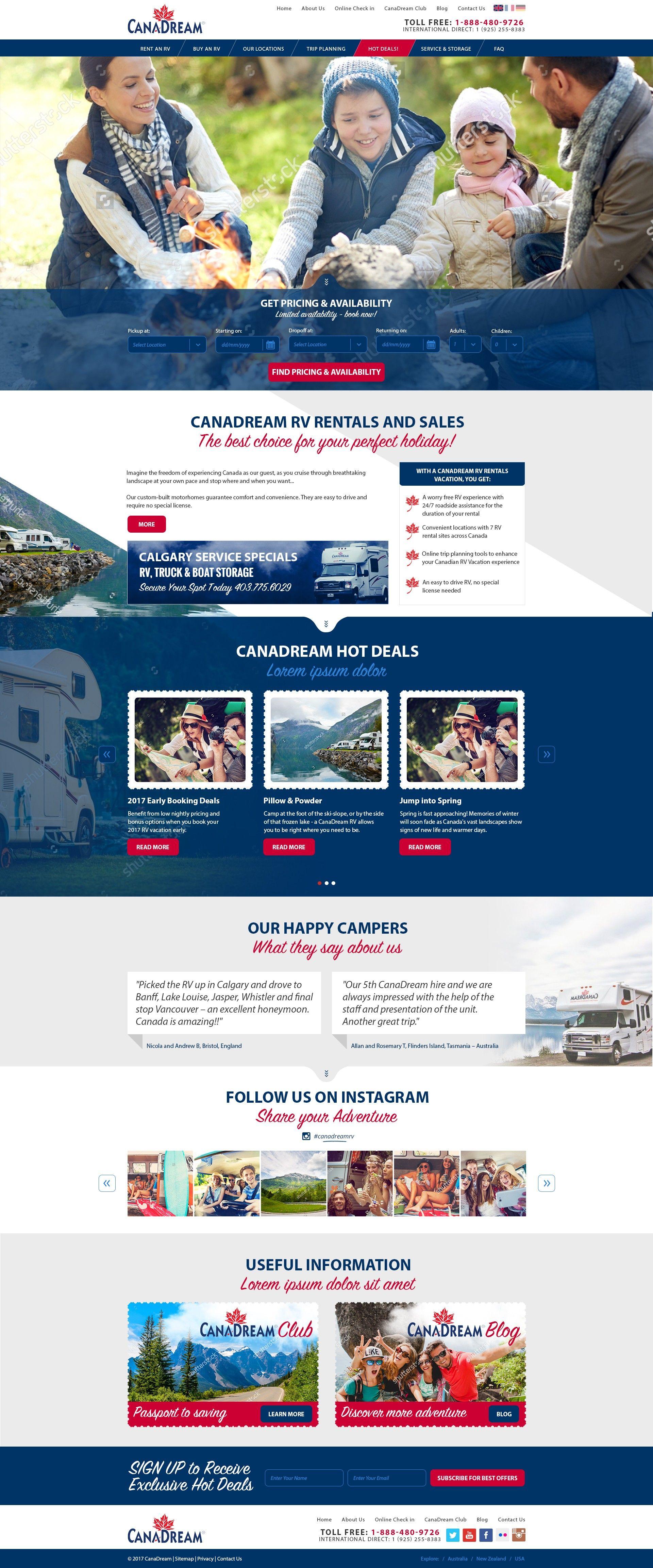 Canadian Tourism Website 99designs Wordpress Web Design Tourism Website Web Design