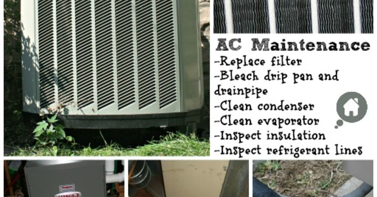 Air Conditioner Maintenance Home maintenance checklist