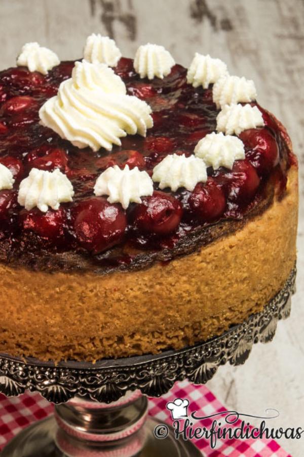 Kaesekuchen Mit Leckeren Kirschen Und Amaretto Backrezepte Blog