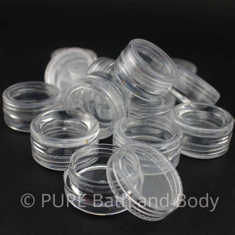 Clear Plastic Lip Balm Jar Cosmetic Jar Container Pots Sample 5 Gram Empty 10 Jars With Images Lip Balm Containers Makeup Tutorial For Beginners Makeup Jars