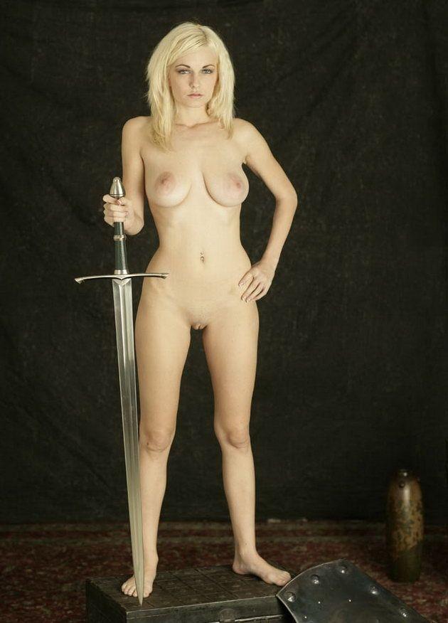 Warrior Nude medieval female