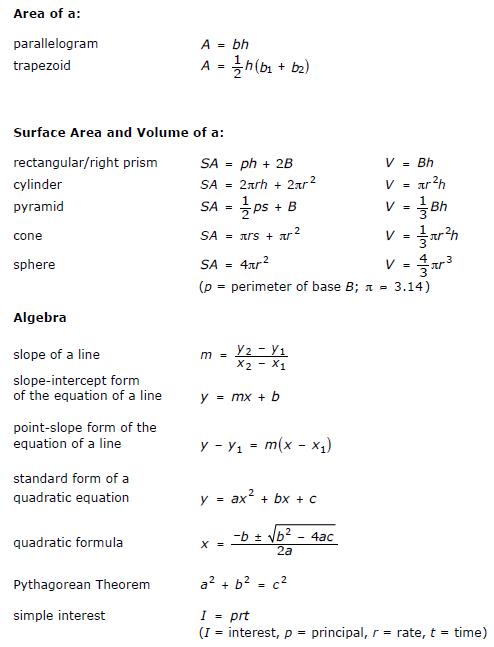 Ged math practice free printable