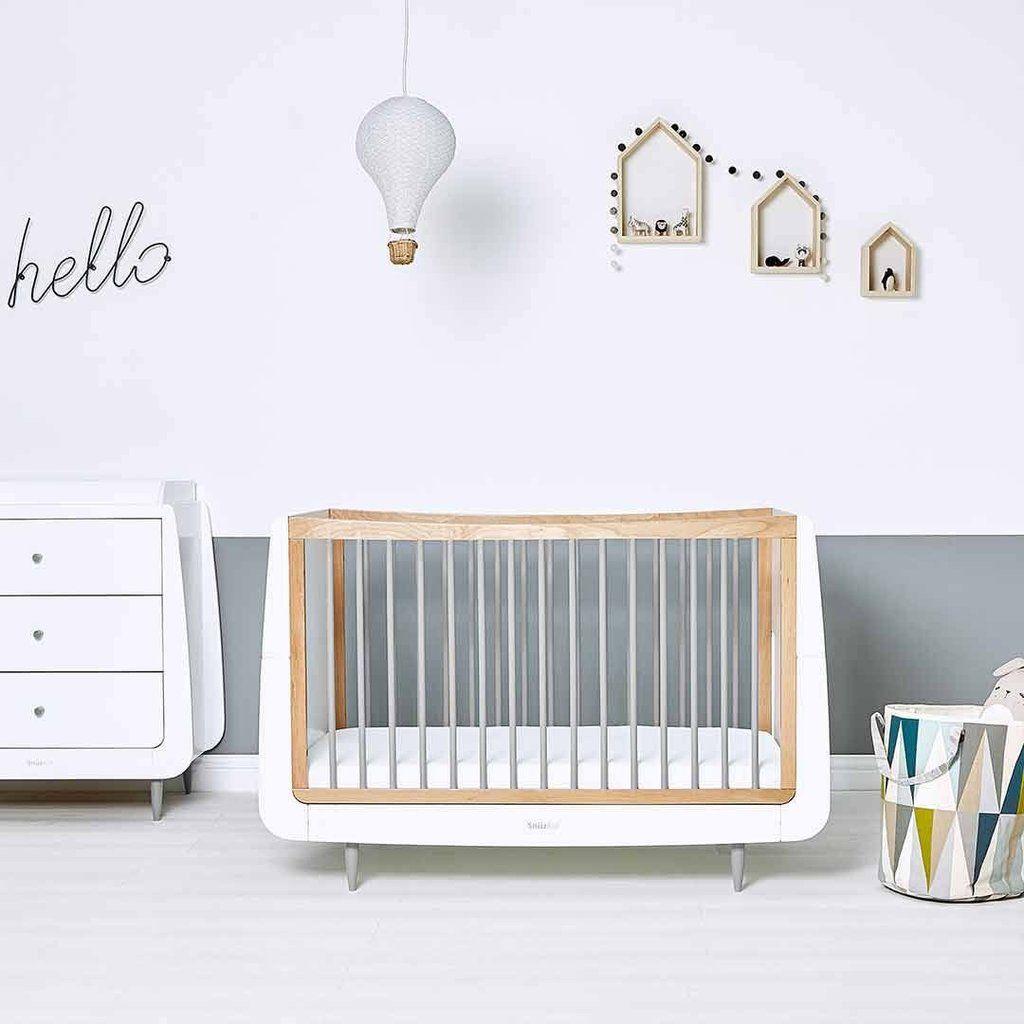 Snuzkot Skandi 2 Piece Nursery Furniture Set Grey Lifestyle