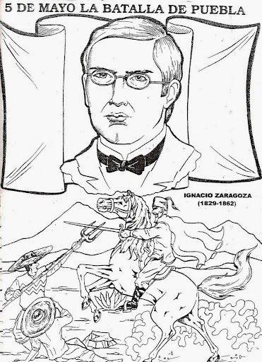 Batalla De Puebla Dibujos Para Colorear 5 De Mayo Dibujos