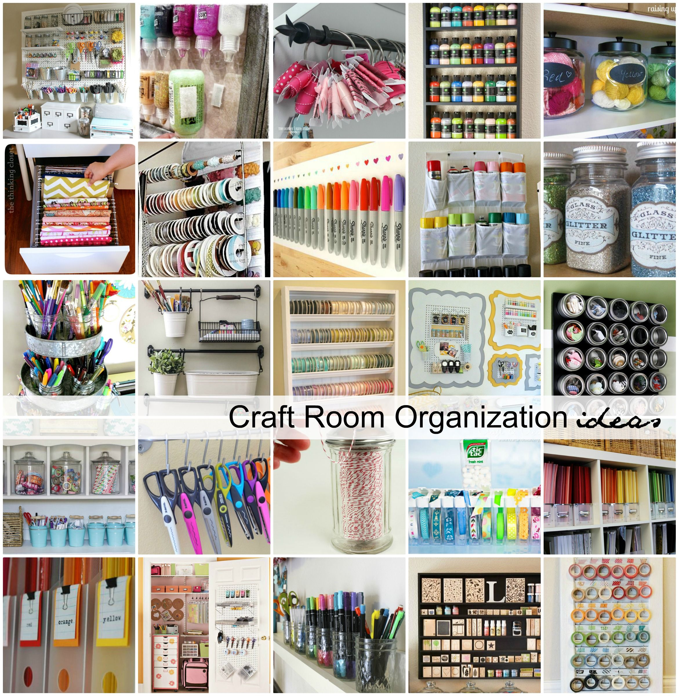 Bedroom Art Supplies: Craft Room Organization And Storage Ideas