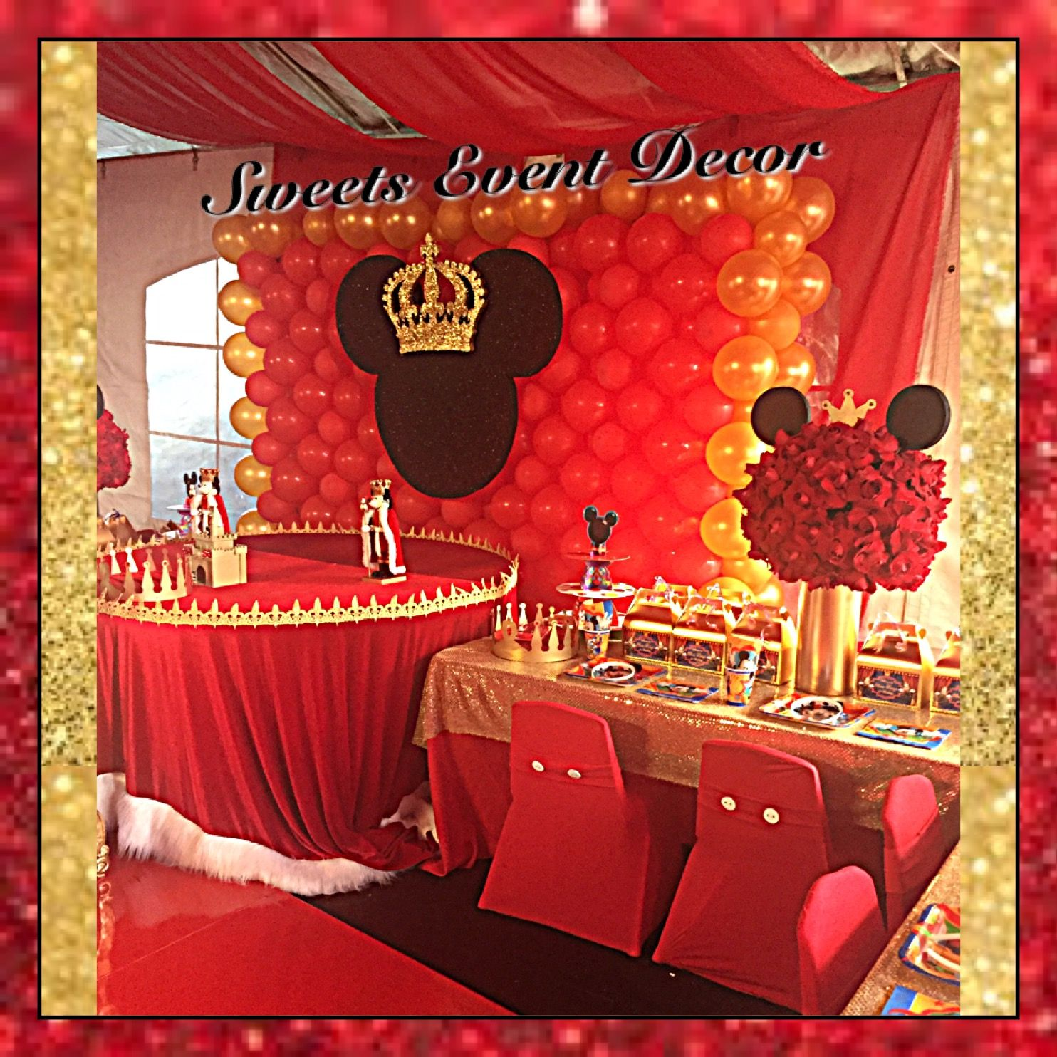 royal prince mickey mouse decor by: sweets event decor | floral
